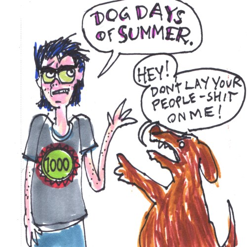 Dog days of summer drawing