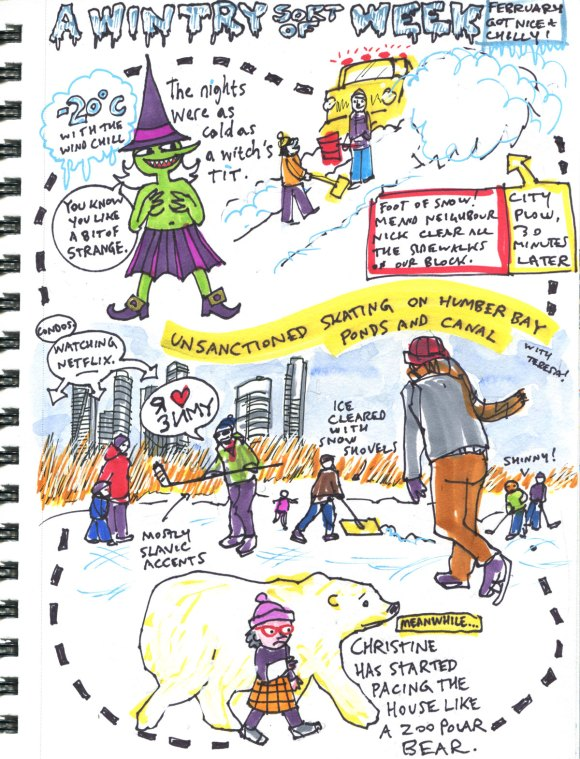 My Pandemic Diary 2, page 36 February winter snap
