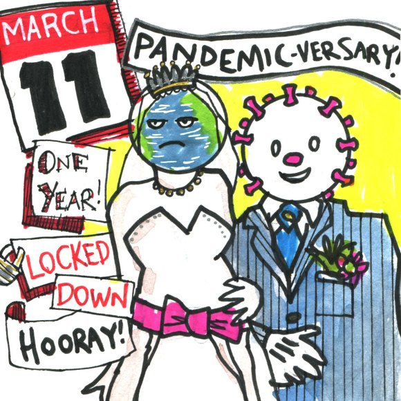 One year anniversary pandemic