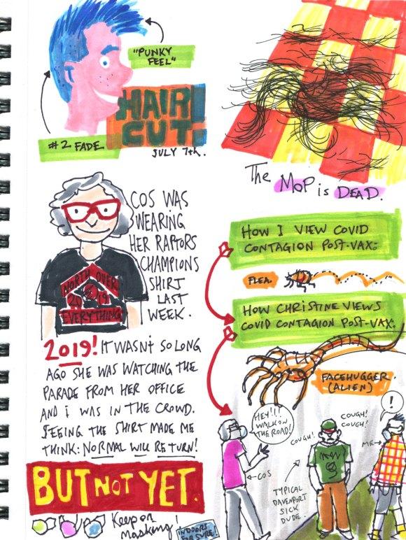 My Pandemic Diary part 3 page 8 sketchbook Swizzle Studio