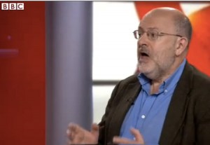 BBC Panorama presenter, John Sweeney attempts to defend himself on the BBC. (Source: YouTube/BBC)