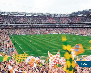 22 September 2002; A general view of Croke Park at 3.29pm, a minute before the start of the game. Kerry v Armagh, All Ireland Football Final, Croke Park, Dublin. Picture credit; Brendan Moran / SPORTSFILE