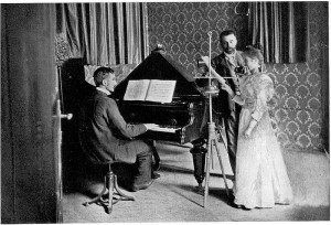 The concert room of Telefon Hírmondó (1901) Source: Wikimedia Commons