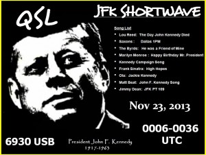 JFK Shortwave QSL-