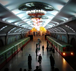 Pyongyang Metro Station (Original: Wikimedia Commons)
