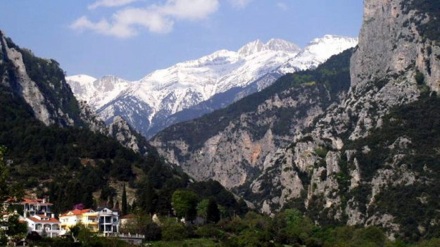 A view of the Mount Olympus