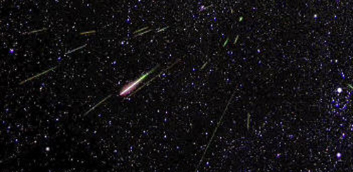 Perseids meteor shower Photo: NASA