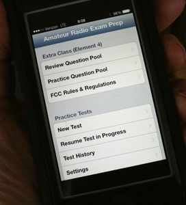 Apps like Amateur Radio Exam Prep make exam practice easy and convenient