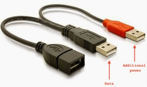 USB Y cable