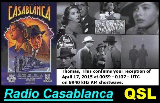 Radio Casablanca QSL Card