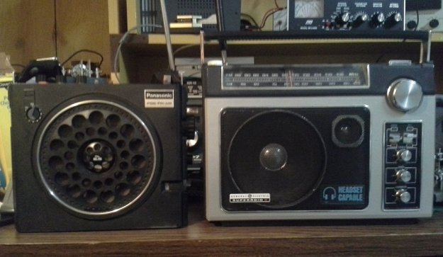 Mike's Panasonic RF-888 (left) and his  GE Super Radio II (right)
