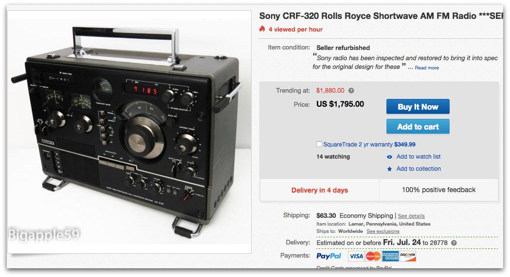 sony crf 320 the swling post rh swling com Sony Shortwave Radio Collection Sony CRF 320 Radio