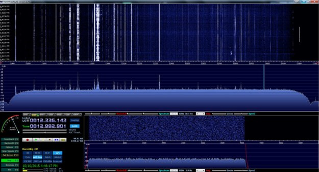 The SDRplay RSP via the HDSDR app