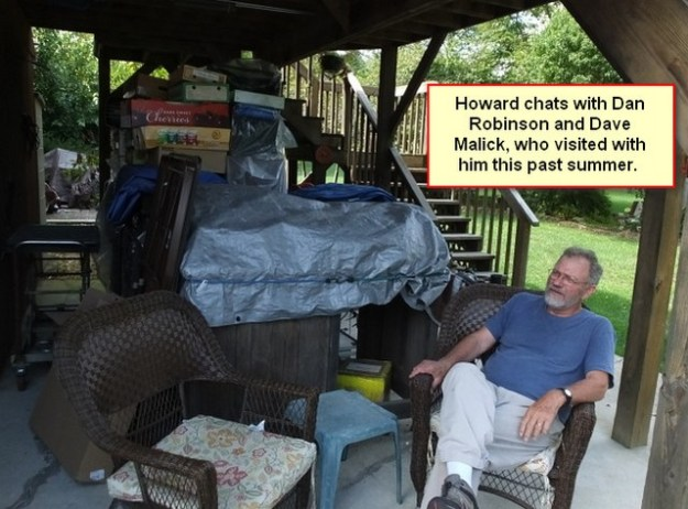 Howard at his home in WVA