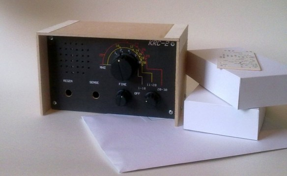 KRC-2 shortwave regenerative receiver kit5