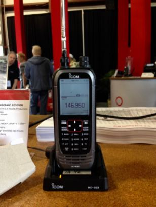 The new Icom IC-R30 handheld wideband receiver at the 2018 Hamvention.