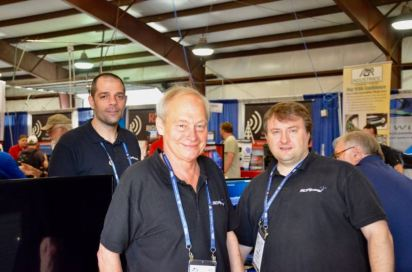 Mike, Jon and Andy at the SDRplay booth.