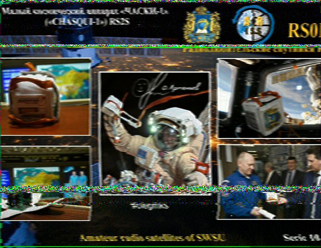 Al decodes SSTV image from International Space Station | The SWLing Post