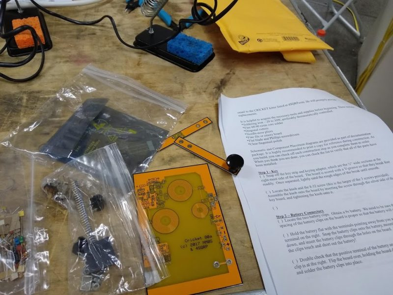 Building the Cricket QRP Transceiver at HOPE 2018 | The