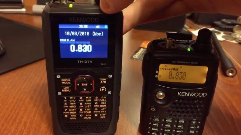 TC notes differences between Kenwood TH-D74 and TH-F6A on MW