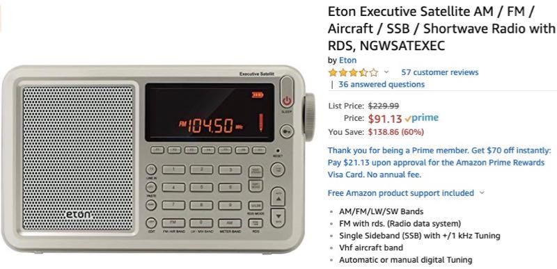 Radio Deal: All-time low prices on Eton Executive Traveler