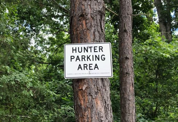 Hunter Parking Area Sign