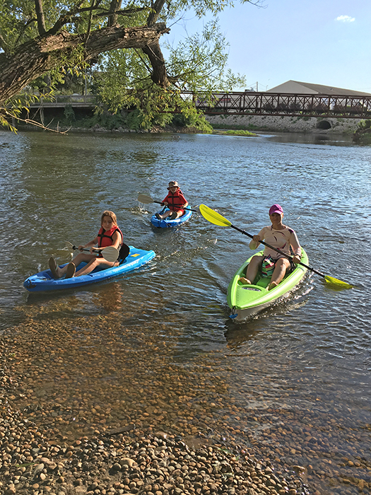 This stretch of the Kalamazoo River -- from Merrill Park in Comstock to Arcadia Brewing Company in Kalamazoo -- is slow and gentle, perfect for families and people who are just getting into paddling.