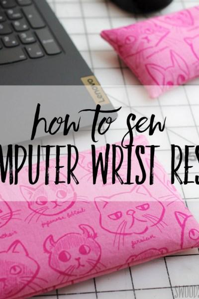 DIY keyboard wrist rest & DIY mouse pad wrist rest