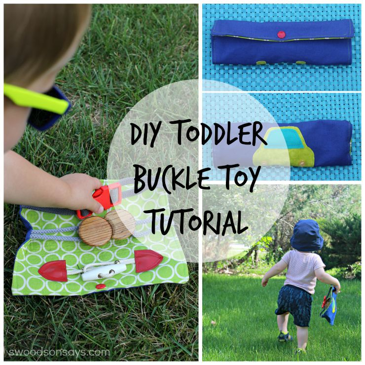 Sew a buckle toy for your toddler - simple, photo instructions on how to make a handmade toy. Swoodsonsays.com