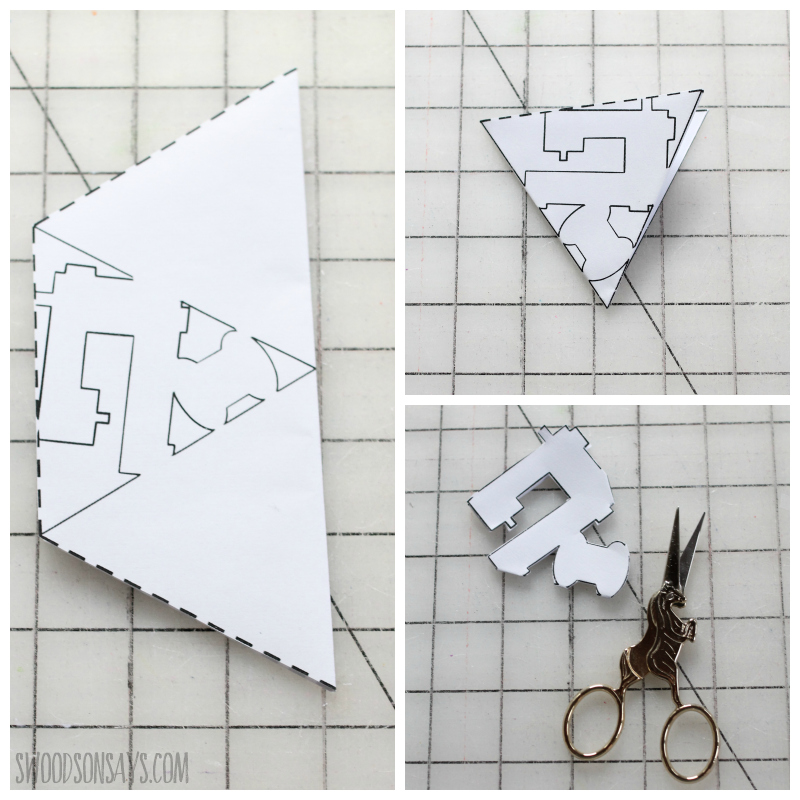 how to cut a snowflake template