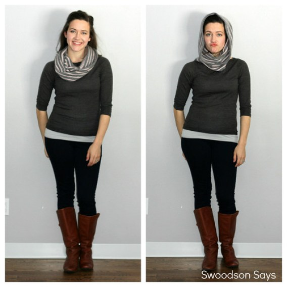 how to make an upcycled sweater scarf