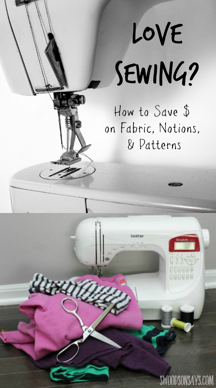 How to save money while sewing! Tips on how to spend less when it comes to fabric, notions, and sewing patterns.