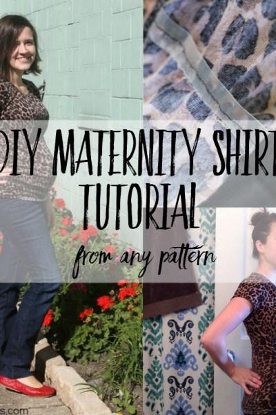 diy maternity shirt tutorial