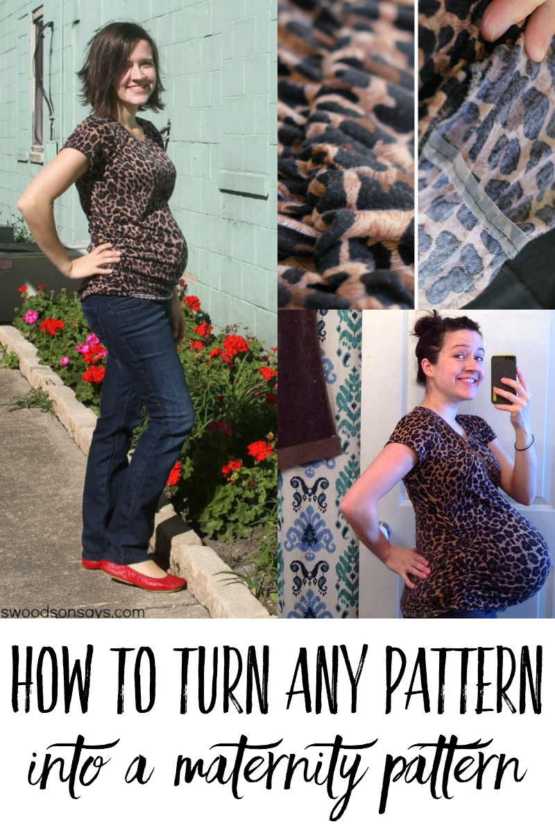 how to turn a pattern into maternity