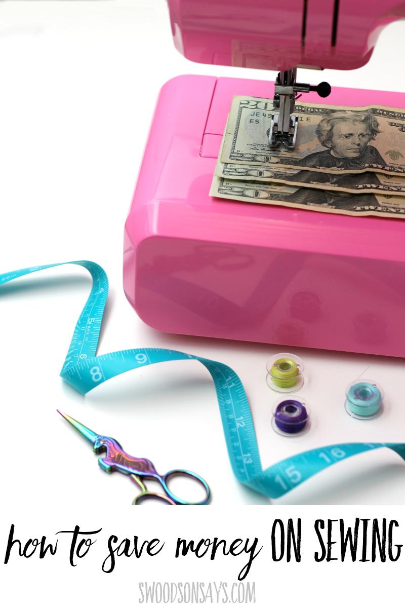 sewing money saving tips