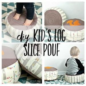 DIY Kids Pouf – Log Slice Pillow Tutorial