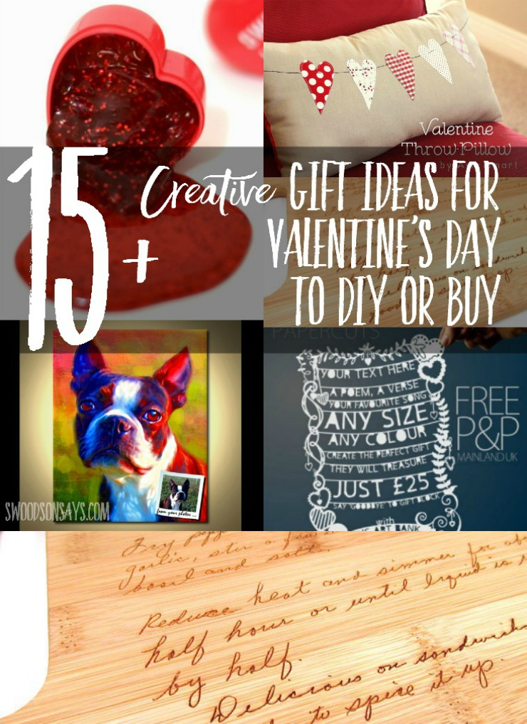 """Creative gifts to sew and craft for Valentine's Day - with a few """"off the shelf"""" ideas too!"""