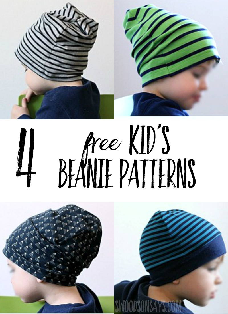 4 Free Knit Beanie Hat Sewing Patterns - Tested! - Swoodson Says