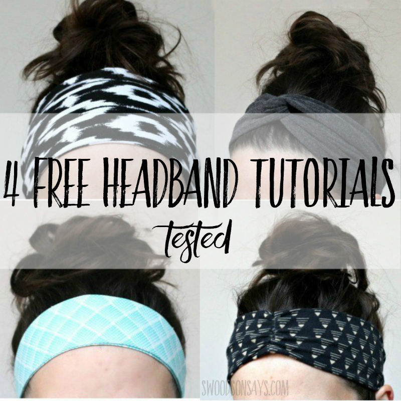 How to sew a headband
