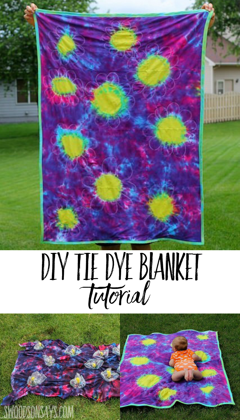 upcycled tie dye blanket sewing tutorial