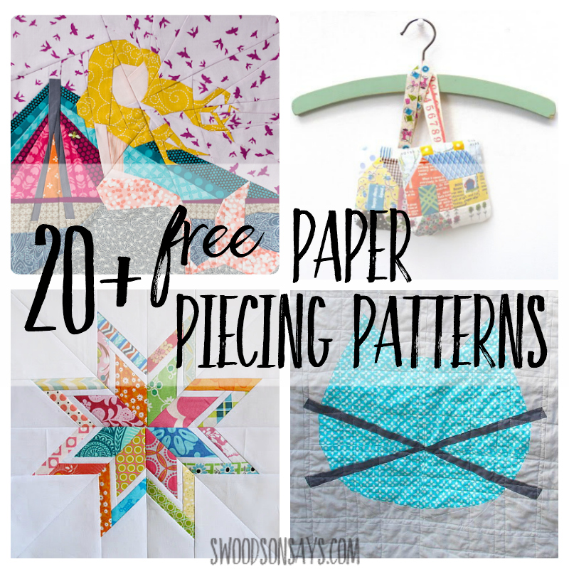 If you're looking for free paper piecing patterns, here is a big list! Sharing over 20 freebies, links to paper piecing tutorials, reference book ideas, and unique paper piecing patterns for sale. Full of great quilting tips and inspiration!