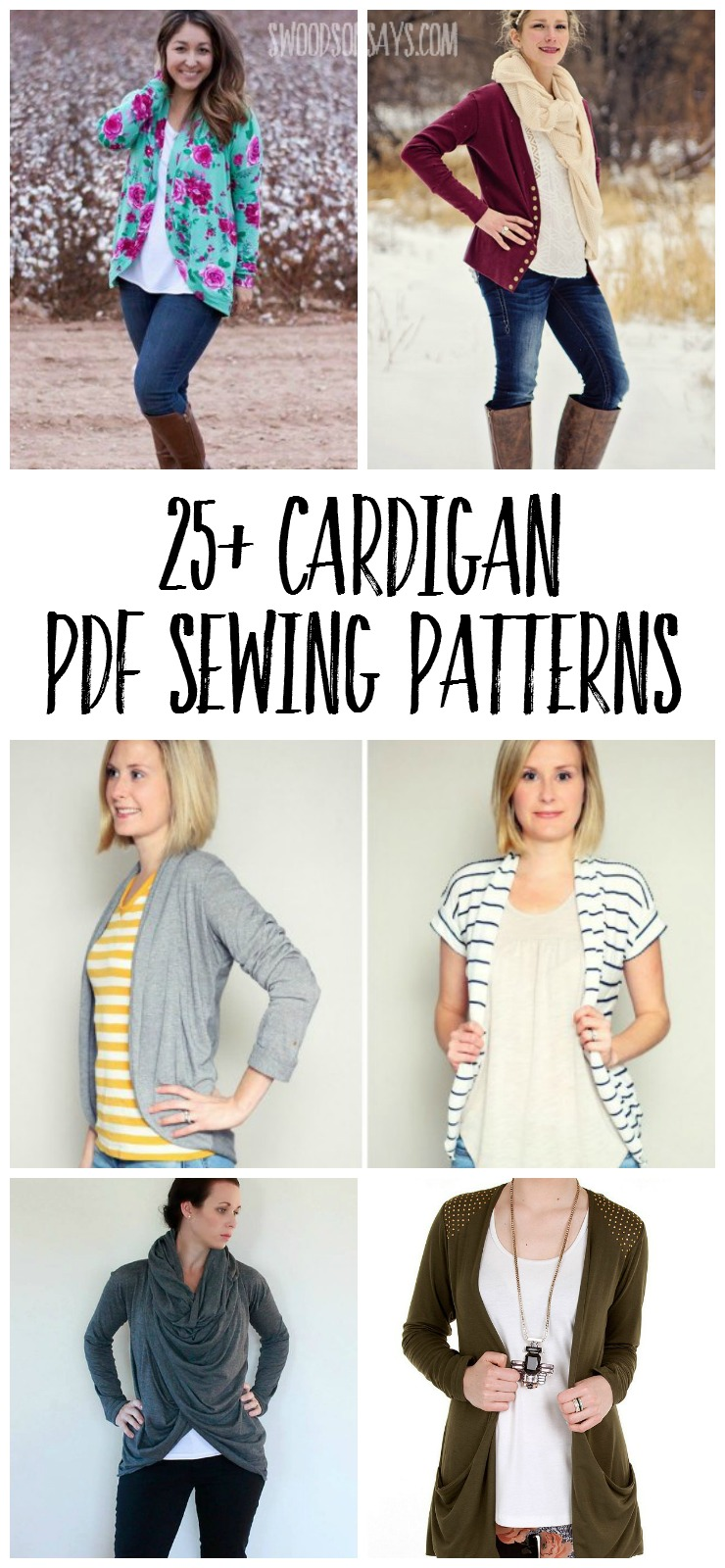 Check out this huge list of PDF sewing patterns for cardigans! Perfect fall layers and sewing patterns for women.