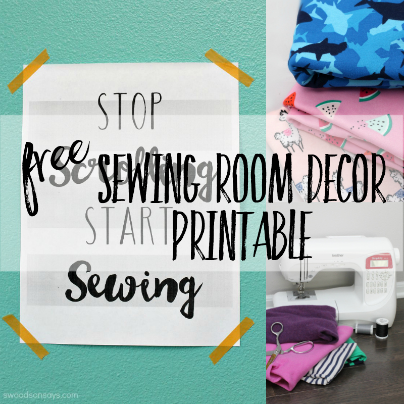 sewing room printable