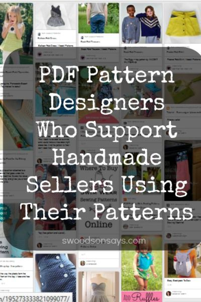 PDF Pattern Designers who allow WAHMs and Etsy Sellers to sell from their patterns.