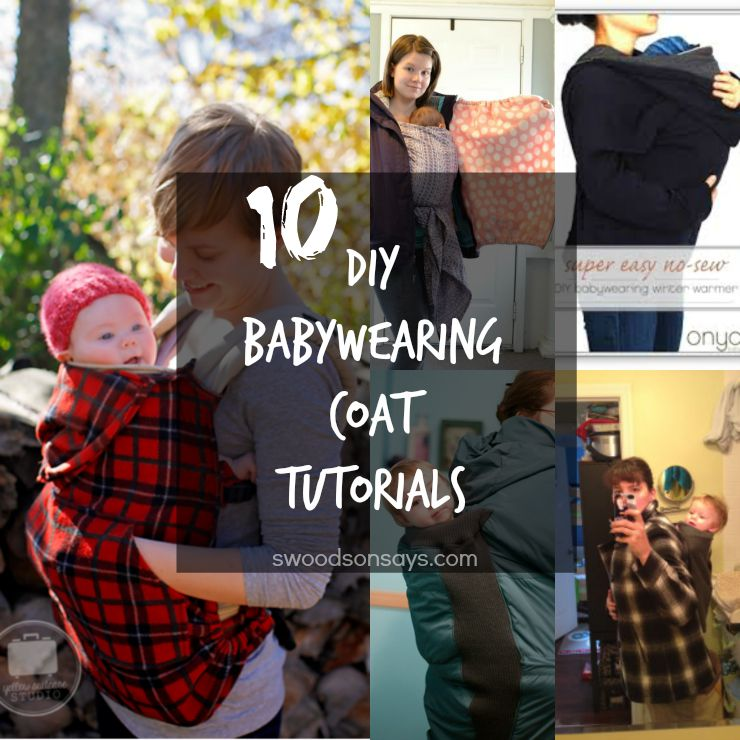 diy babywearing coat tutorials
