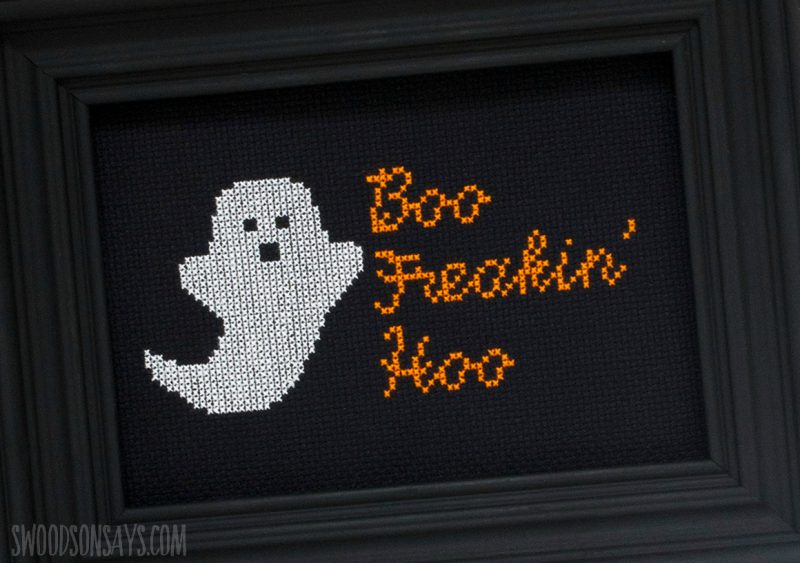 free halloween cross stitch pattern ghost