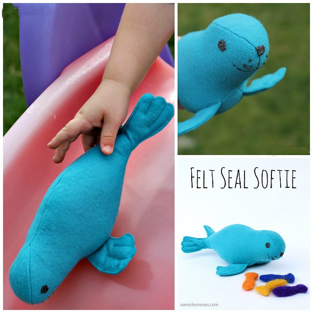 91a78b56a39c Check out this super cute Stuffed Seal Sewing Pattern. Really creative  finishing details that produce