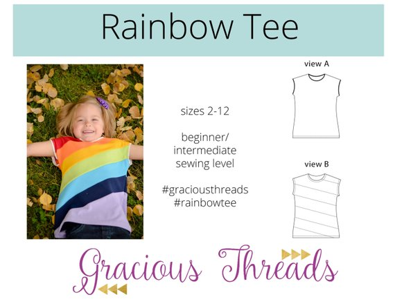 rainbow tee sewing pattern