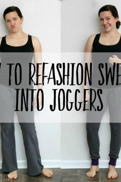 diy joggers step by step tutorial