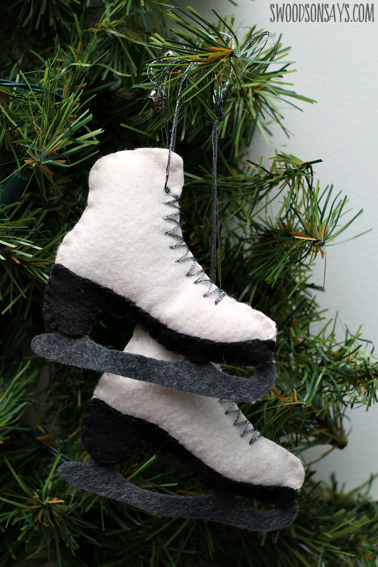 ice skate ornament free pattern